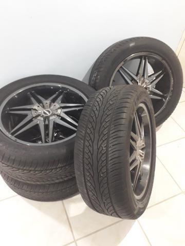 TORRO, Rodas 20 5 furos com pneus seminovos - Foto 2