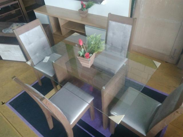 Mesa De Jantar 4 Cadeiras Nova - Foto 2
