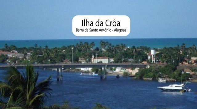 Litoral Norte - Barra de Santo Antônio - Ilha da Croa - Em Rua Pavimentada