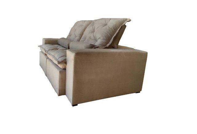 Sofá Retrátil e Reclinável Elegance 2,30m zxz208