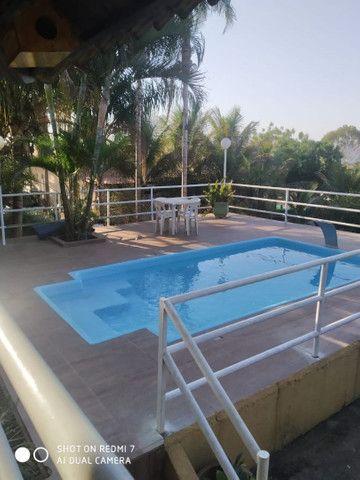 Loca-se casa com 4/4, quiosque, piscina aquecida, wi fi,  a beira do lago de Corumbá IV. - Foto 3