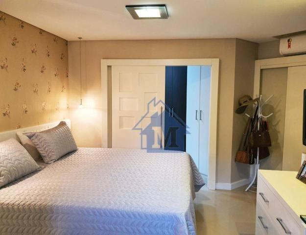 Lindo Apartamento Semimobiliado, 2 Suítes e 1 Quarto, Sacada Gourmet, no Centro! - Foto 9