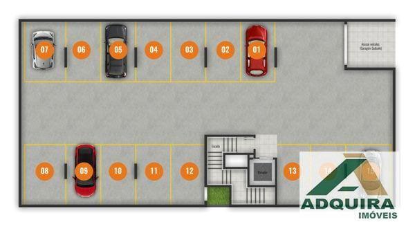 Apartamento com 2 quartos no Le Raffine Residence - Bairro Estrela em Ponta Grossa - Foto 7