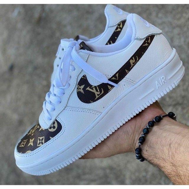 Nike Air Force-Louis Vuitton Unissex  - Foto 4