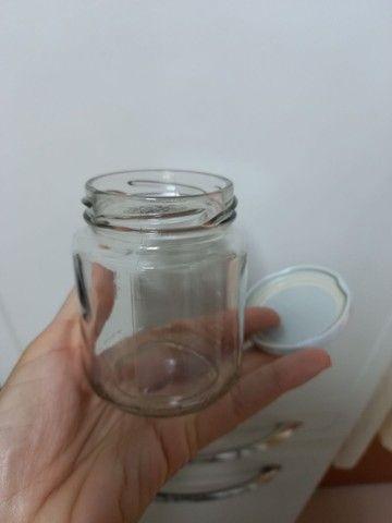 Potes de vidro (com tampa de rosca) - Foto 2