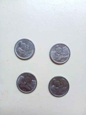 4 moedinhas de 1 centavo de 1989 - Foto 2