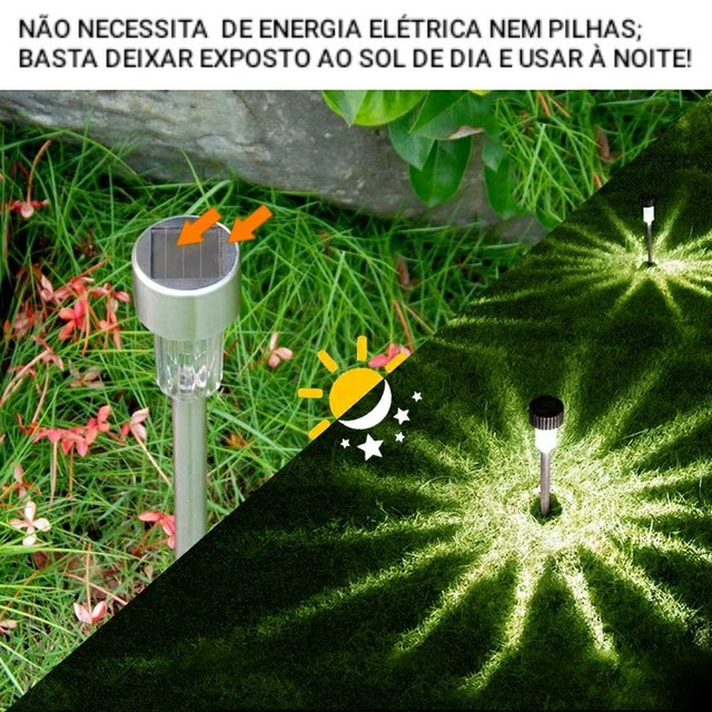 ILUMINE SEU JARDIM SEM GASTAR ENERGIA NENHUMA - Foto 5