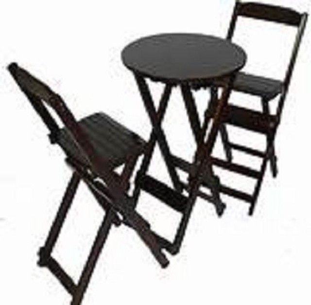 Jogo de mesa com 2 ou com 4 cadeiras dobráveis - direto da fábrica - Foto 4