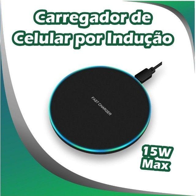 Carragador Sem Fio Wireless por Indução Qi Charger