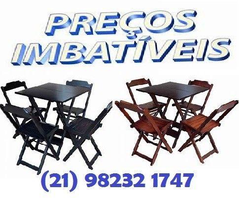Jogo de mesa com 2 ou com 4 cadeiras dobráveis - direto da fábrica
