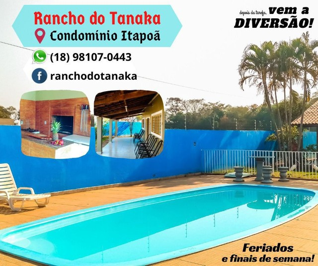Rancho condomínio itapoã 20 km de Araçatuba