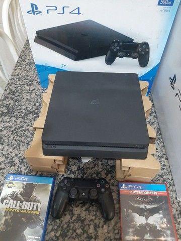 Playstation 4 slim 500 gb zero com nota - Foto 4