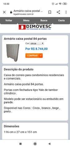 ARMÁRIO CAIXA DE CORREIO PARA CONDOMÍNIOS 84 GAVETAS - Foto 3
