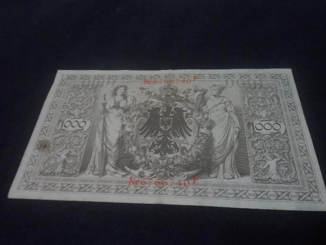 Cedula 1000 mark marcos alemanha original 1910