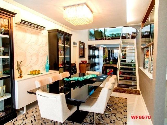 Mansão com 5 suítes, casa duplex, projetada e mobiliada, 7 vagas, rua privativa, Sapiranga - Foto 6
