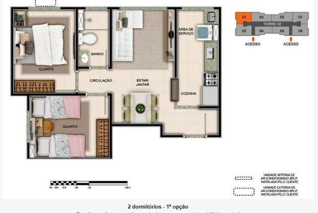 Apartamentos com 2 dormitórios em construção próximo ao shopping - Foto 5