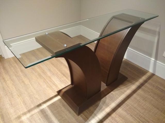 Mesa de vidro com 6 cadeiras + aparador - Foto 2