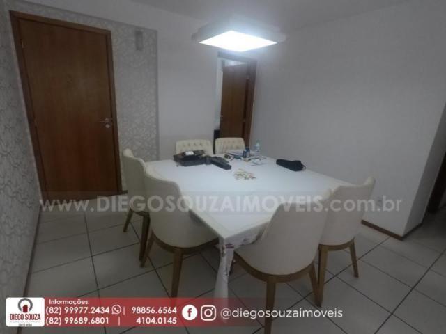 Apartamento para venda em maceió, farol, 3 dormitórios, 1 suíte, 1 banheiro, 2 vagas - Foto 6