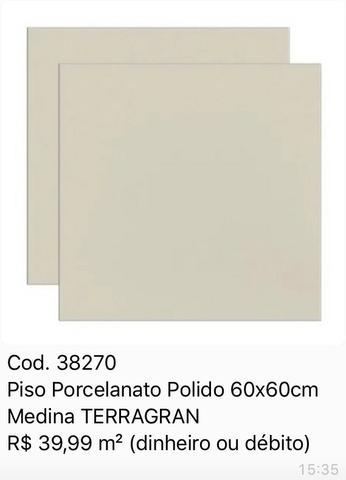 Imperdível Porcelanato 60x60 R$39,99m2