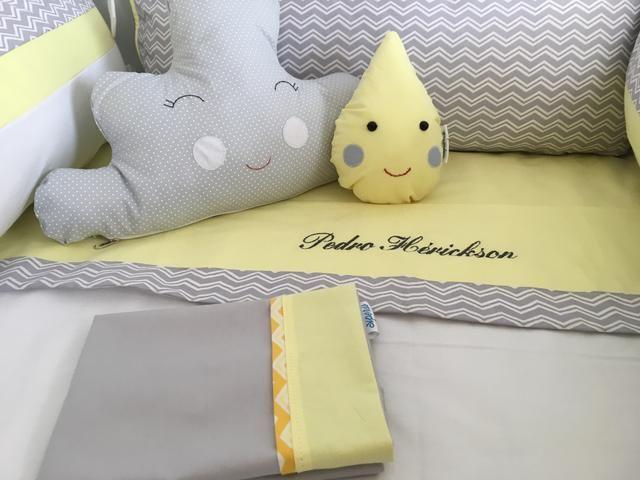 Kit lençóis e fronhas para berço - Foto 6