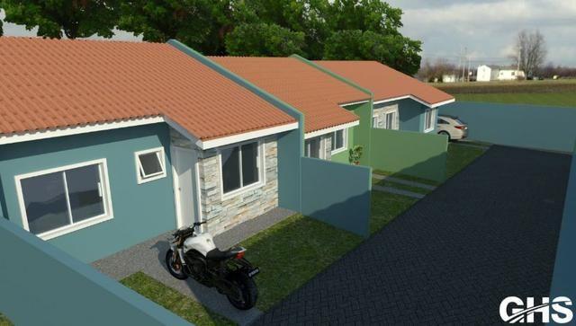 Casas novas 3 dormitorios bairro jd ceu azul campo largo, entrada facilitada - Foto 3