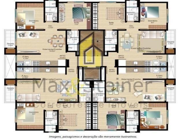 M*Floripa#Apartamento 2 dorms,aceita financiamento bancário. Área nobre - Foto 14