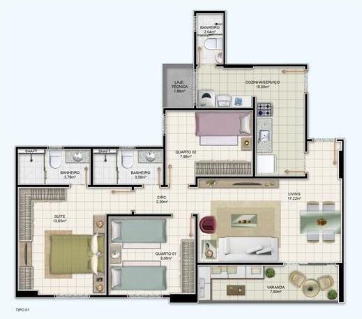 Apartamento 3/4 em localização privilegiada na Santa Mônica - Dom Vertical - Foto 2