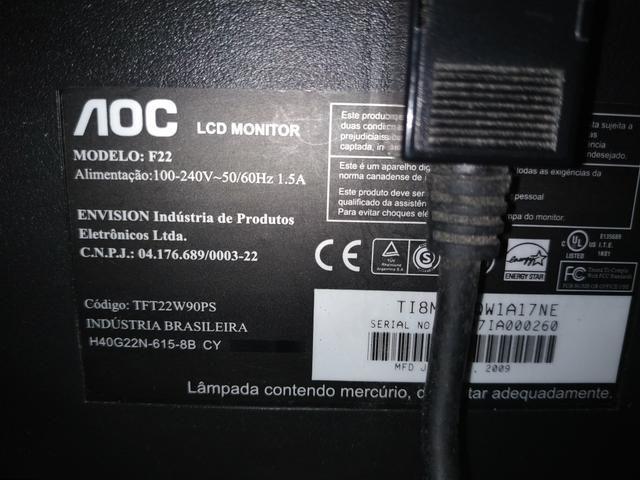 "Monitor computador 21,5"" - Foto 3"