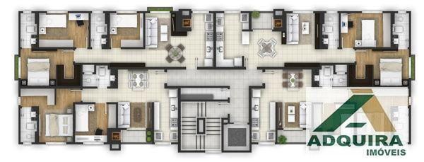 Apartamento com 2 quartos no Le Raffine Residence - Bairro Estrela em Ponta Grossa - Foto 3