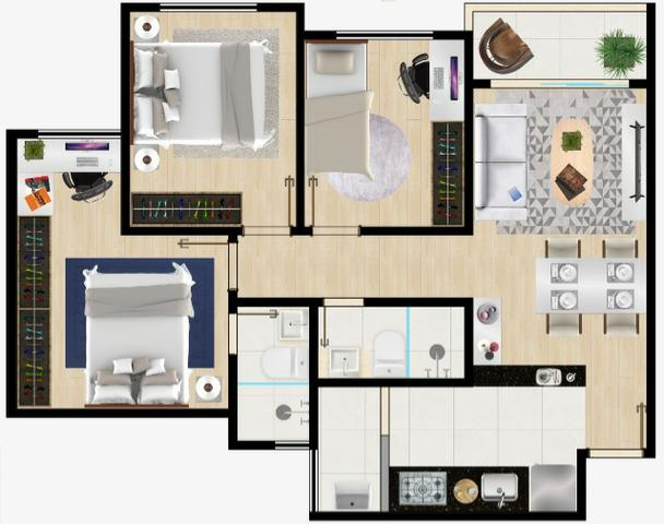 """Apartamento (Moradia ou Investimento) em """"Porto Seguro"""" Bahia- Na Planta! - Foto 12"""