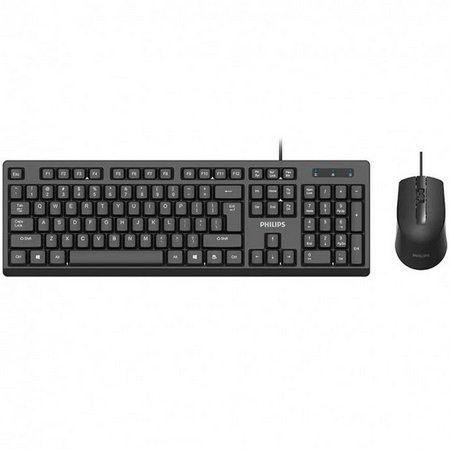 Teclado e Mouse com Fio C234 Preto - Philips