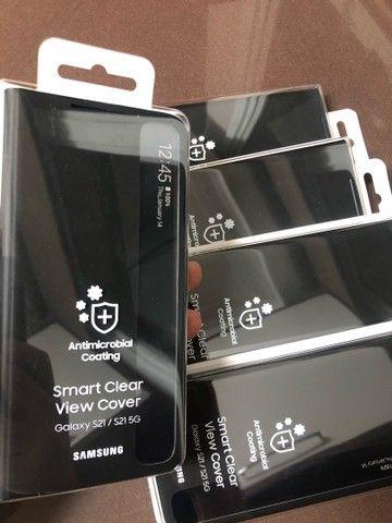 Capa Original Smart Clear View Cover Samsung Galaxy S21 - Foto 6