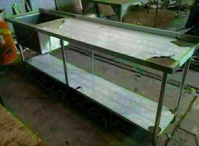 Mesa aço inox profissional  - Foto 2