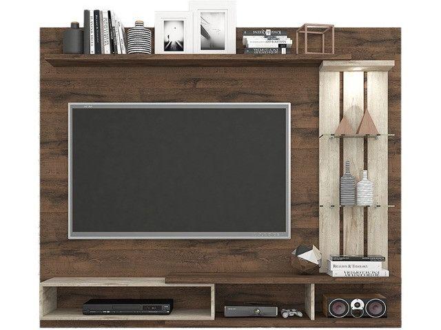 Rack suspenso com design moderno LED embutido e aplique decorativo - NOVO - Foto 2