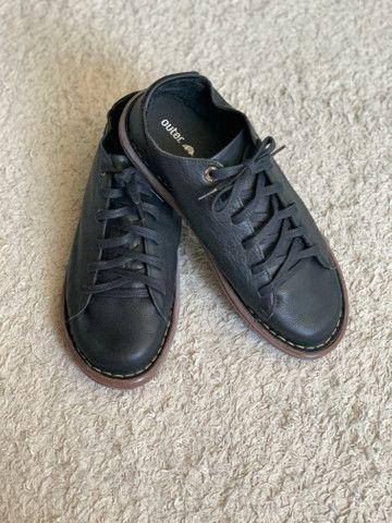 Sapato em couro legítimo Outer - Foto 5