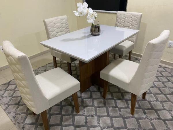 Mesa de Jantar Mari 4 Cadeiras- Entrega Rápida