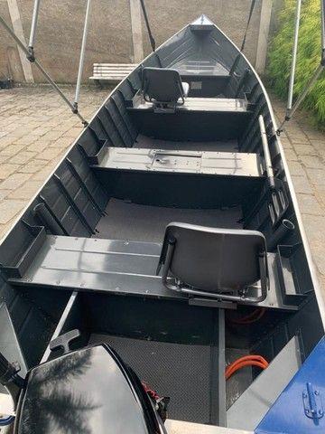 Barco alumínio de bico borda alta 5m semi novo - Foto 2