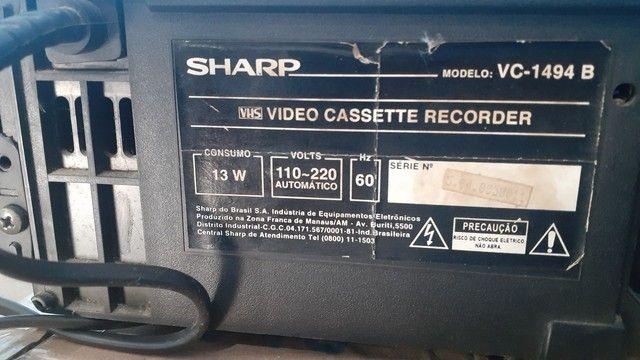 Vídeo cassete sharp 4 cabecas - Foto 2
