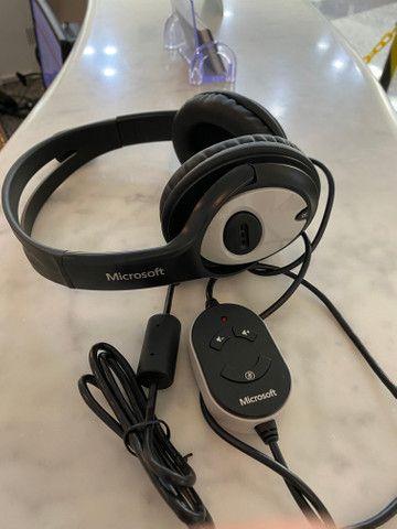 Headphone Microsoft LifeChat LX-3000, fora da caixa, mas sem uso, na garantia - Foto 3