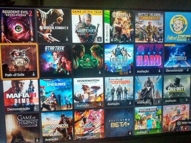 Xbox one com conta com + de 100 jogos  - Foto 4