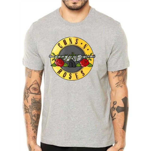 Camiseta Guns n Roses -  Masc e Fem - Foto 4