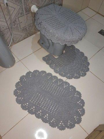 Jogo de banheiro em crochê simples - Foto 3