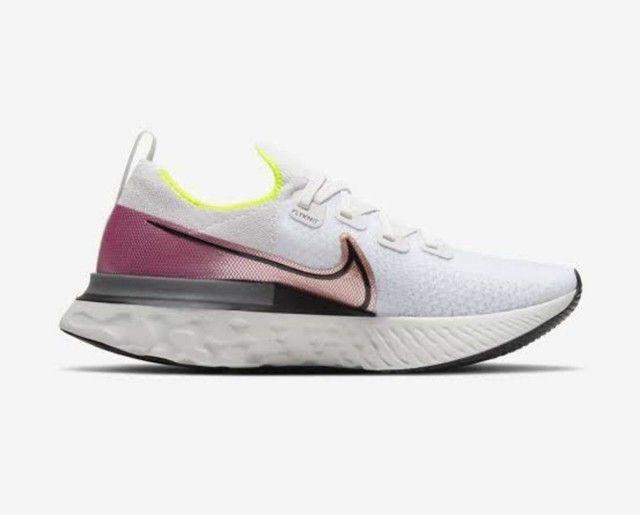 <br>Tênis Nike React Infinity Run Flyknit Masculino<br>(Usado 5X)<br>