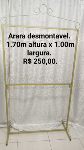 CABIDEIRO DESMONTÁVEL R$ 250,00 ( ENTREGO)