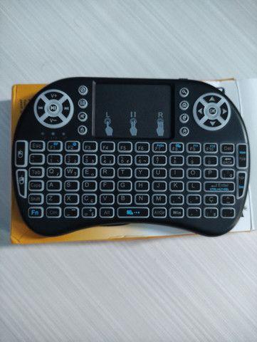 Mini Teclado Wireless Bluetooth Touchpad Sem Fio - Foto 3