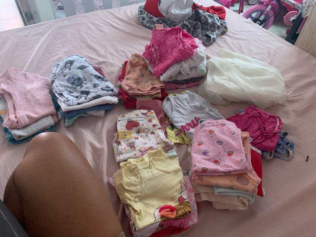 Vende esse lote de roupa de menina de 1ano até 2 ano  - Foto 2