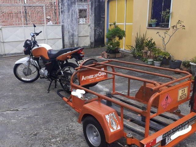 Moto cg 125 cargo com carrocinha - Foto 3
