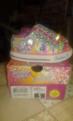 Tênis twinkle toes Light up