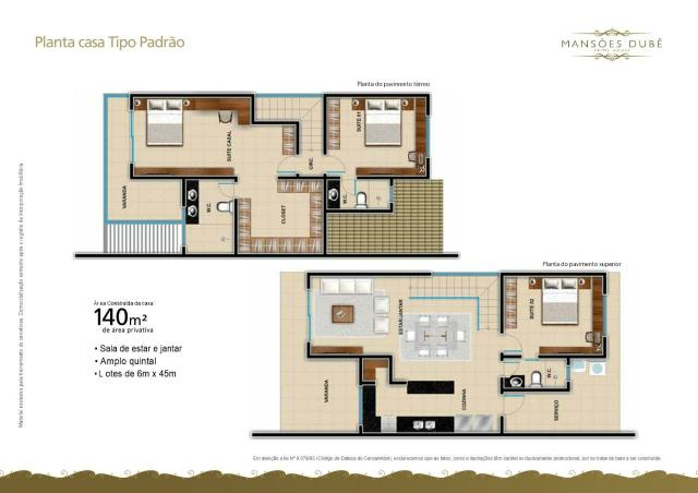 Mansões no eusébio 3 suites , 6 vagas 6x45 - Foto 8
