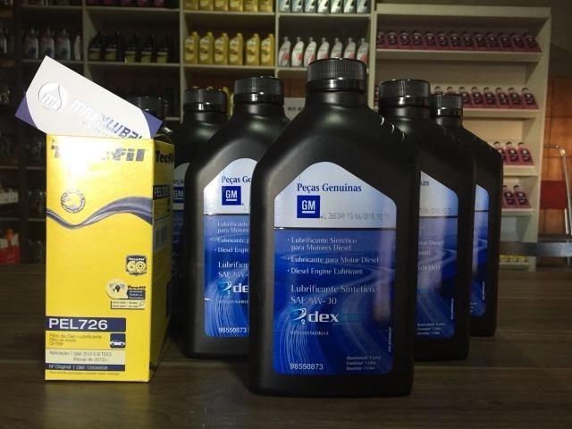 Kit Troca de Oleo GM 5w30 100% Sintetico + Filtro de Oleo / S-10 Diesel